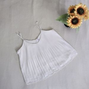 White Cami with Lace